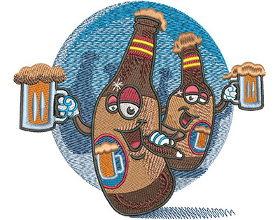 Embroidery Design: Beers Bachelor Party Lg 5.12w X 4.44h