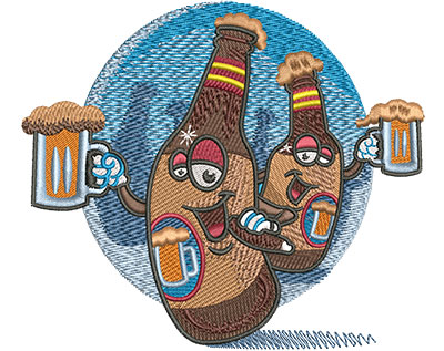 Embroidery Design: Beers Bachelor Party Med 4.01w X 4.63h