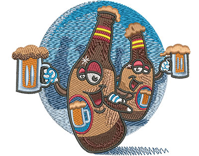 Embroidery Design: Beers Bachelor Party Sm 4.12w X 3.57h
