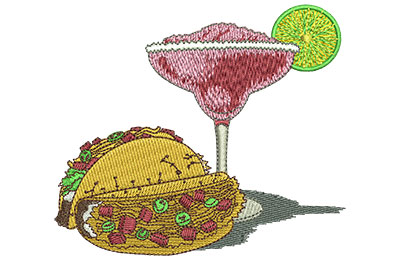 Embroidery Design: Margarita Time Med 3.94w X 3.45h