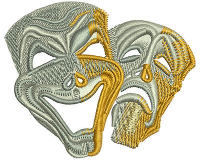 Embroidery Design: Drama Masks Sm 2.51w X 2.07h