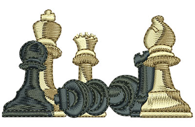Embroidery Design: Chess Club Med 3.48w X 1.97h