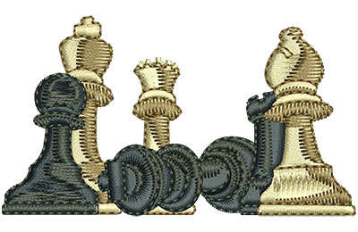 Embroidery Design: Chess Club Sm 2.98w X 1.69h