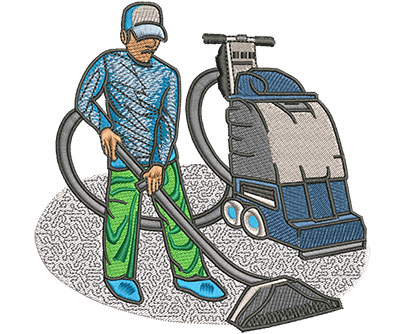 Embroidery Design: Carpet Cleaner Lg 4.49w X 4.44h