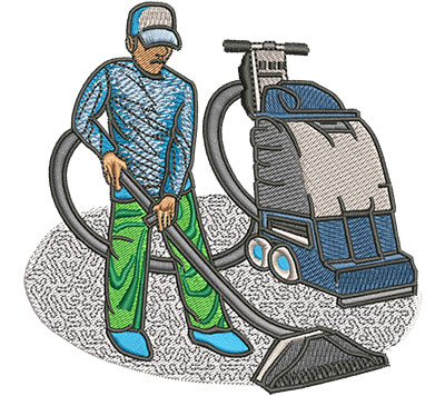 Embroidery Design: Carpet Cleaner Med 3.99w X 3.94h
