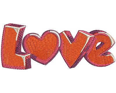 Embroidery Design: Love Gel Hearts Lg 4.00w X 1.62h