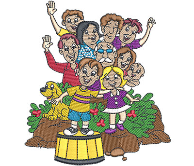 Embroidery Design: Family Reunion Lg 4.80w X 5.43h