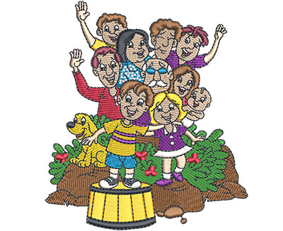 Embroidery Design: Family Reunion Med 4.35w X 4.93h
