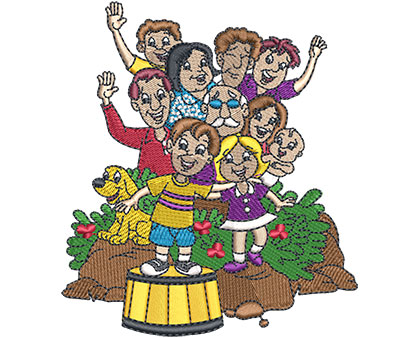 Embroidery Design: Family Reunion Sm 3.91w X 4.43h