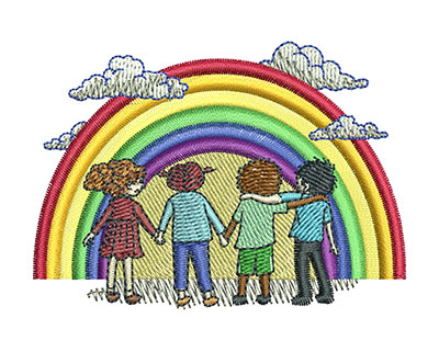 Embroidery Design: Rainbow Kids Sm 3.00w X 2.15h