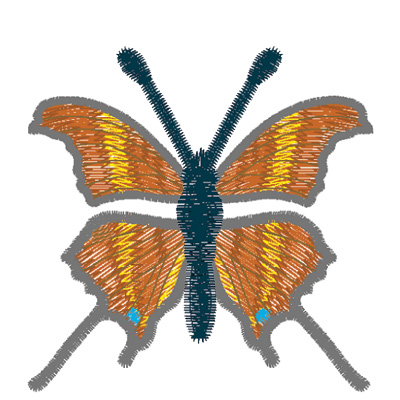 Embroidery Design: Butterfly Ruddy Daggerwing small3.90w X 1.72h