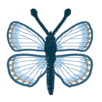 Embroidery Design: Butterfly Spring Azure large4.66w X 2.47h