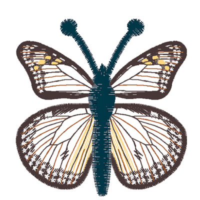 Embroidery Design: Butterfly Monarch large4.66w X 2.13h