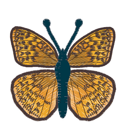 Embroidery Design: Butterfly Great Spangled Fritillary large4.67w X 2.78h