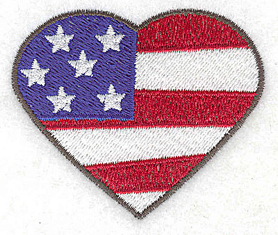 Embroidery Design: Heart shaped flag small 2.68w X 2.25h