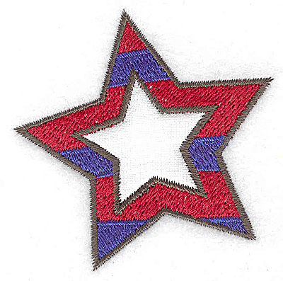 Embroidery Design: Star single applique 2.56w X 2.60h