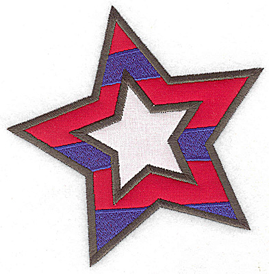 Embroidery Design: Star double applique 4.80w X 4.88h