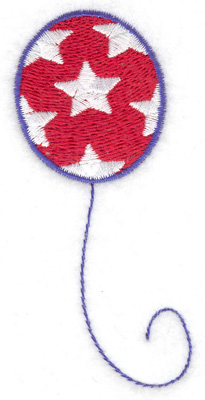 Embroidery Design: Balloon stars small 1.60w X 3.60h