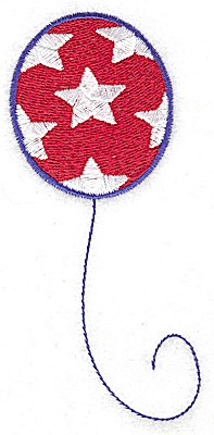 Embroidery Design: Balloon stars large 2.10w X 4.75h