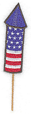 Embroidery Design: Rocket stars and stripes small 0.91w X 3.87h