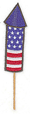 Embroidery Design: Rocket stars and stripes large 1.16w X 4.97h