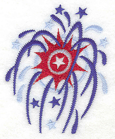 Embroidery Design: Fireworks small 3.17w X 3.88h