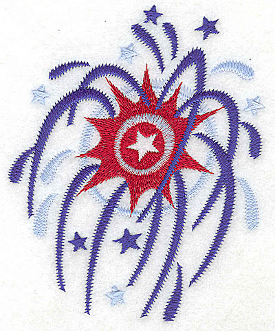 Embroidery Design: Fireworks large 4.00w X 4.96h