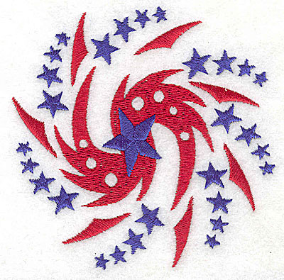 Embroidery Design: Fireworks spiral small 3.87w X 3.88h