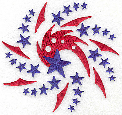 Embroidery Design: Spiral star fireworks 4.92w X 4.62h
