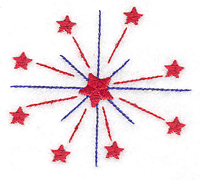 Embroidery Design: Stars small 3.07w X 2.72h