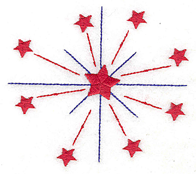 Embroidery Design: Stars large 4.01w x 3.55h