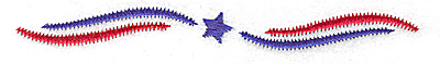 Embroidery Design: Star and stripes large 4.93w X 0.53h