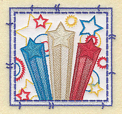 Embroidery Design: Star design applique small 3.49w X 3.37h
