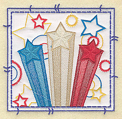 Embroidery Design: Star design applique large 4.96w X 4.76h