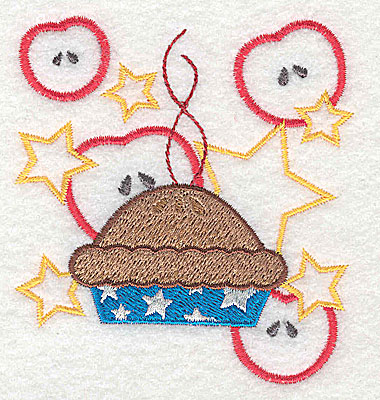Embroidery Design: American applie pie design 3.23w X 3.51h