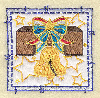 Embroidery Design: Liberty Bell applique small 3.49w X 3.37h