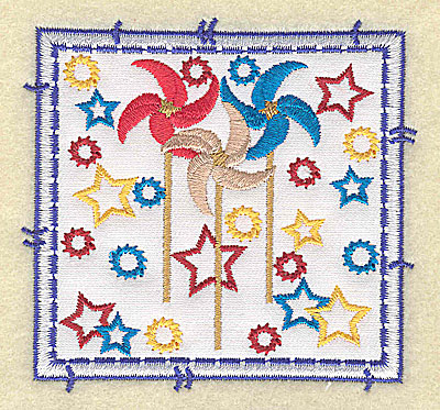 Embroidery Design: Pinwheel applique small 3.49w X 3.37h