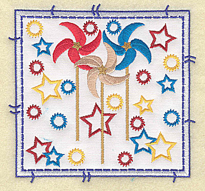 Embroidery Design: Pinwheel applique large 4.96w X 4.76h