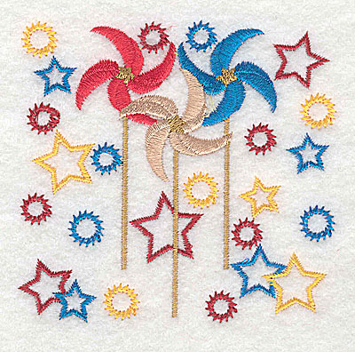 Embroidery Design: Pinwheel design 3.50w X 3.37h