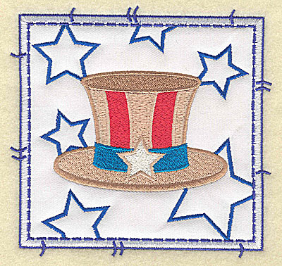 Embroidery Design: Uncle Sam's hat applique large 4.96w X 4.76h