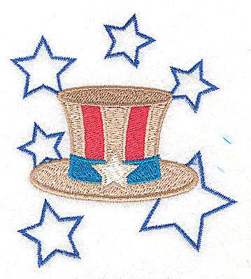 Embroidery Design: Uncle Sam's hat design 3.14w X 3.52h