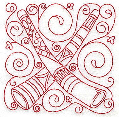 Embroidery Design: Didgeridoo medium 4.79w X 4.80h