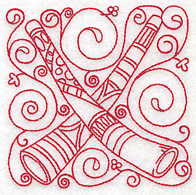 Embroidery Design: Didgeridoo small 3.87w X 3.87h