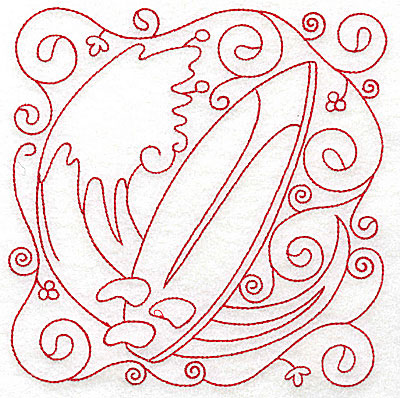 Embroidery Design: Surf board large 5.94w X 6.00h