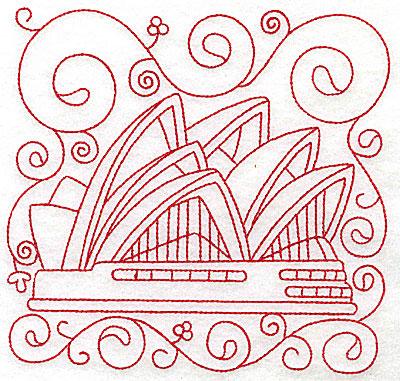 Embroidery Design: Sydney opera house large 6.00w X 5.74h