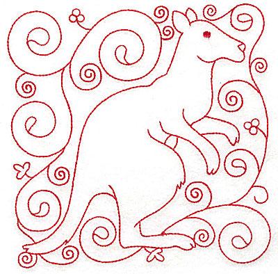 Embroidery Design: Kangaroo large 5.95w X 6.00h