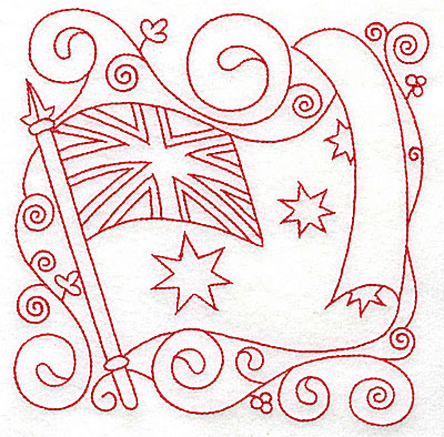 Embroidery Design: Australian Flag large 5.98w X 6.00h