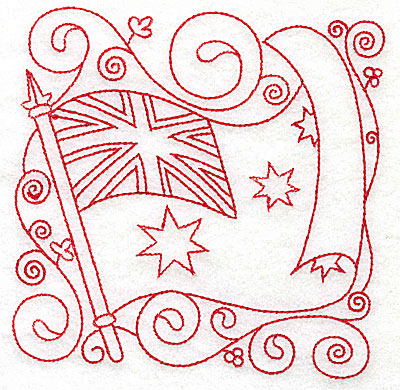 Embroidery Design: Australian Flag medium 4.79w X 4.80h