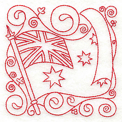 Embroidery Design: Australian Flag small 3.87w X 3.88h
