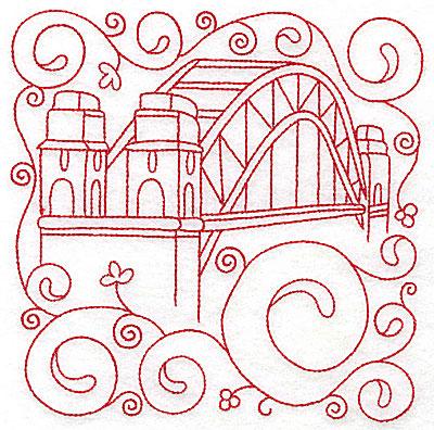 Embroidery Design: Sydney harbour bridge large 6.00w X 5.98h